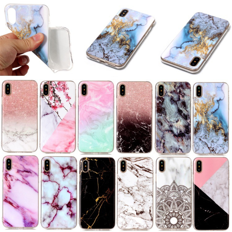NEW Arrival 2018 Simple Fashion Slim Soft TPU IMD Marble Phone Case for <strong>iPhone</strong> X
