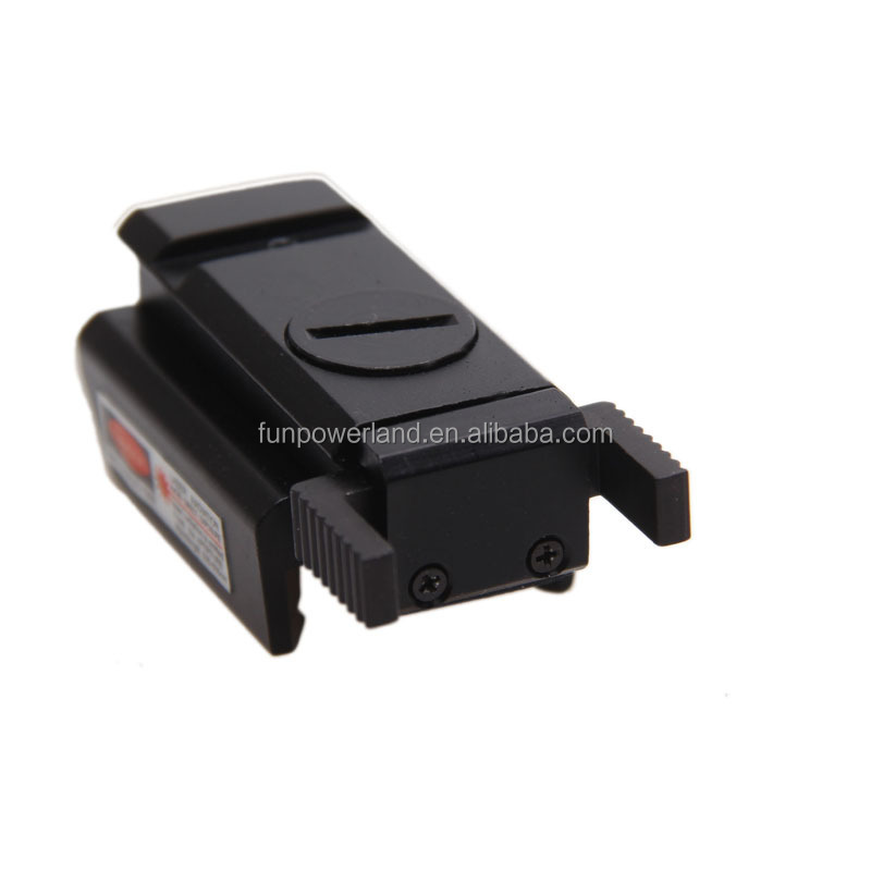 Funpowerland Rail mount Low Profile Red Dot Laser Sight for Pistols with mouse rail switch