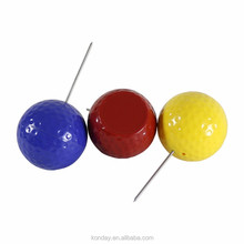 Golf Round Dimple Tee Marker, Golf Tee Box, Golf Ball Markers/Spikes