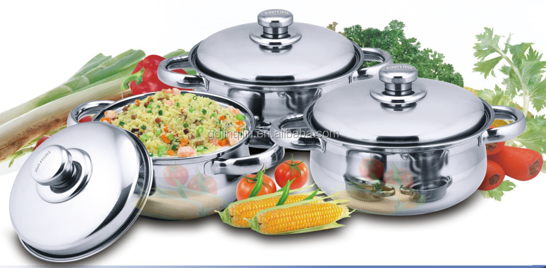 high quality stainless steel first horse cookware set with eco friendly material