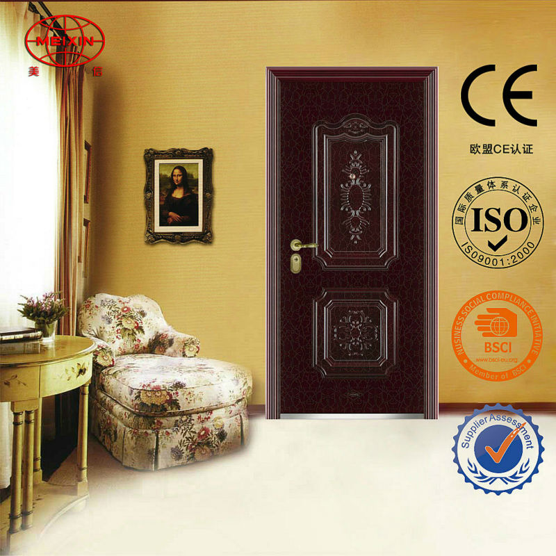 Newest Style Fire Rated Steel Fire used Metal Security Doors for Home Use