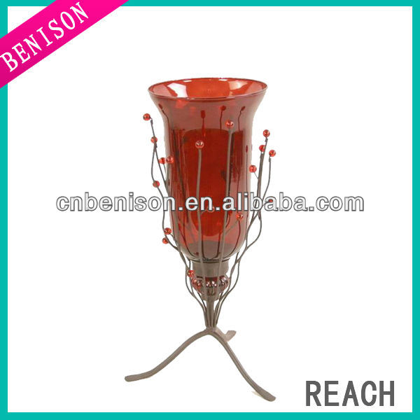 judaica copper iron candle holder
