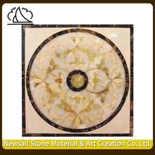 Rectangle Waterjet Marble Inlay Design Flooring Medallion