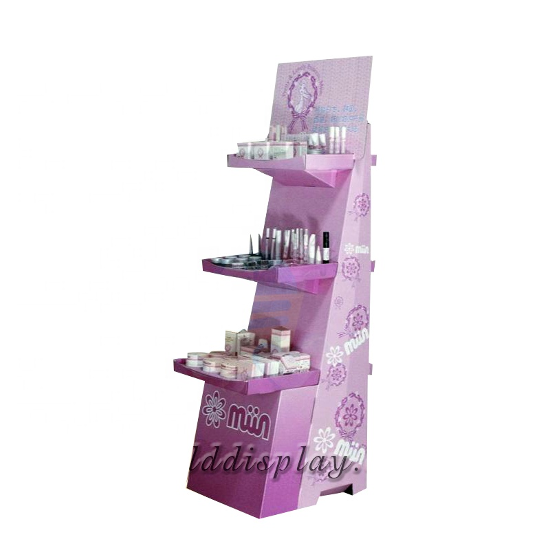 High quality long duration time custom cardboard makeup cosmetic display tester stand