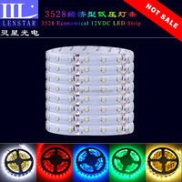 Hot sale 60PCS of high brightness SMD 3528 LED per meter economical 12VDC Coated epoxy type Flexible LED Strip
