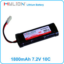 Rechargeable nimh battery 7.2v1800mah for rc car rc gun rc model from china factory