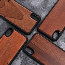 For iPhone X Wood Case Real Wooden Back Cover for iPhone X