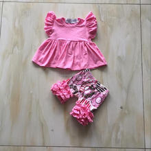 CX-564 Fancy girls flutter dress with doughnut short wholesale buy direct manufactures clothes sets new design kid clothing