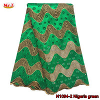 Wholesale Embroidery Lace African Fabric Beaded