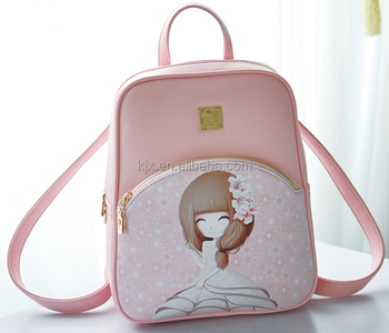 Cartoon Backpack with 11 inch Laptop Compartment for Girl