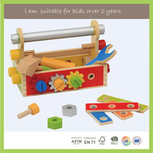 Family Game Top Selling Wooden Construction Tool Box Toys