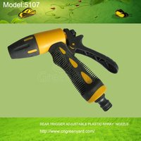 GreenYard 5107REAR TRIGGER ADJUSTABLE PLASTIC SPRAY NOZZLE Garden&Home Usage,High Pressure washing car tools
