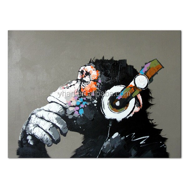 Hand painted canvas monkey oil painting <strong>art</strong>