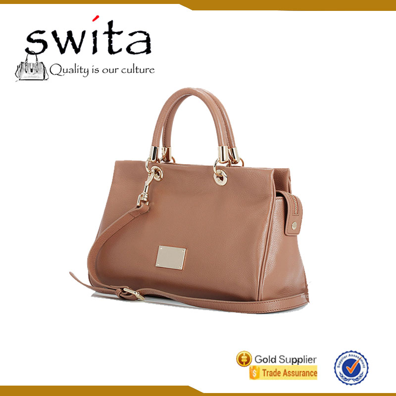 New Arrival Fashion Cow Skin Genuine Leather Handbags
