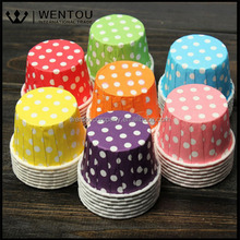 Wholesale 100pcs Colorful Paper Cupcake Liner Muffin Cases Greaseproof Dessert Baking Cups