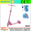 Pink scootera 3 wheels folding skate scooter with cheap sell