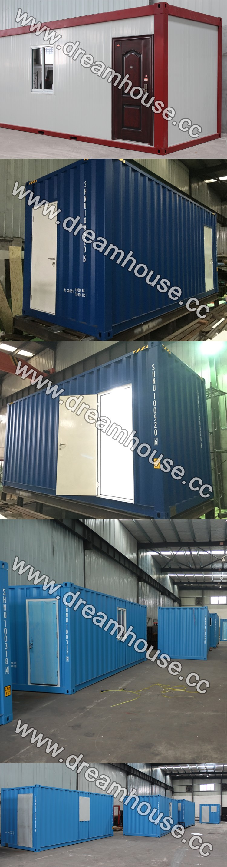 40ft container house/ finished prefab house/ container office open side