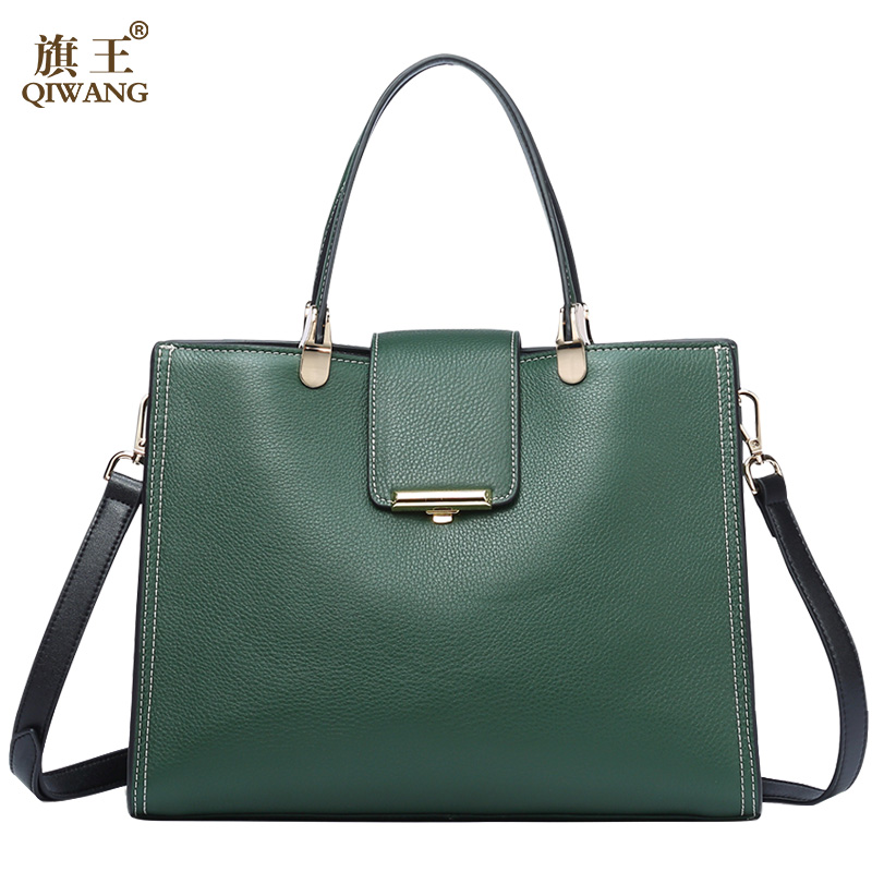 QIWANG Genuine Leather Bag For Women Loved Vogue Elegant Famous Brands Quality Purse And Handbags Women Crossbody Bags Lady bag