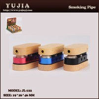 2015 YuJia hot sale good quality Aluminum and wooden smoking pipe wholesale pipe JL-122