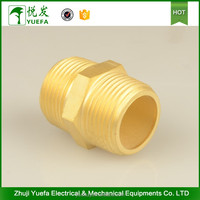 China Manufacture Brass Pipe Fittings Hexagon Nipple