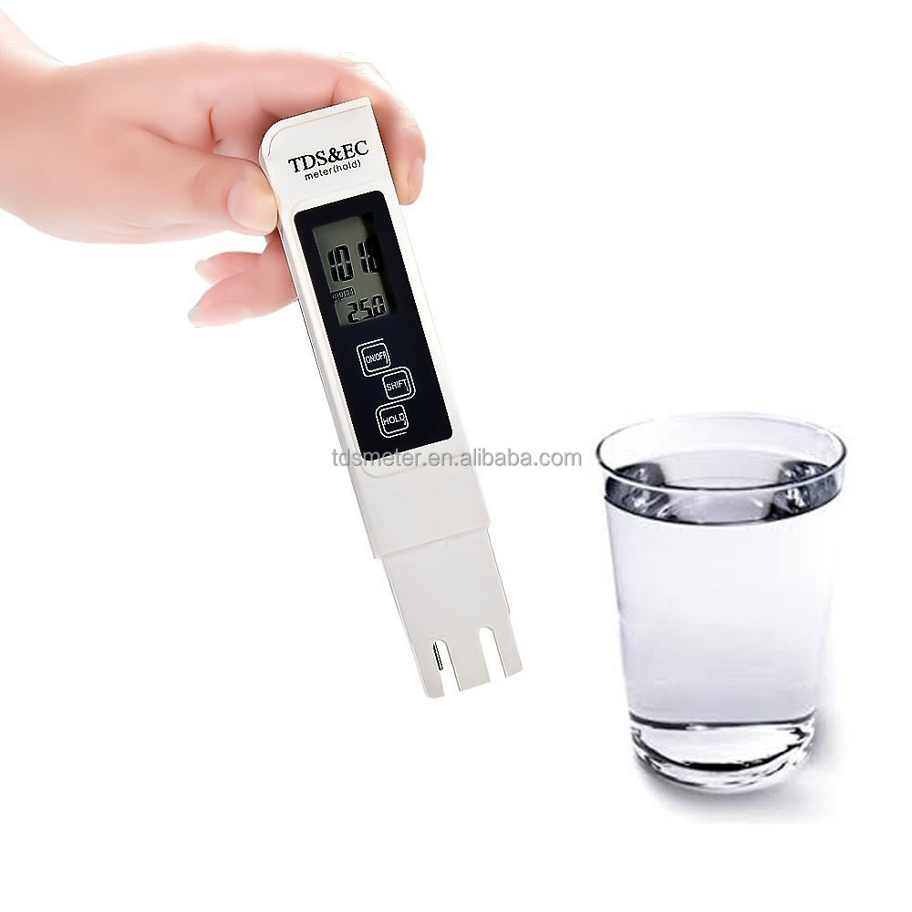 High quality water tester with temperature conductivity meter TDS meter