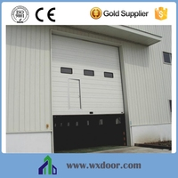 industrial exterior doors with small doors and window