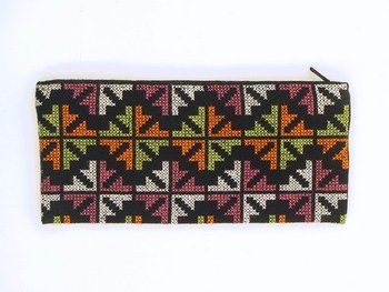 100% Cotton Pencil Case In Multi-Colour
