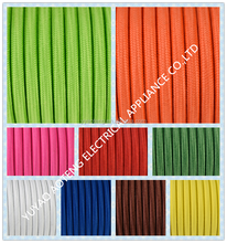 CE approved two core H03VV-F 2*0.75MM2 colorful fabric cable