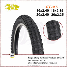 Racing bicycle accessories and folding bicycle accessories black bmx tires 20x2.35