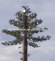 30m GSM Telecommunication Pine Tree Steel Monopole Tower For Outdoor Decoration