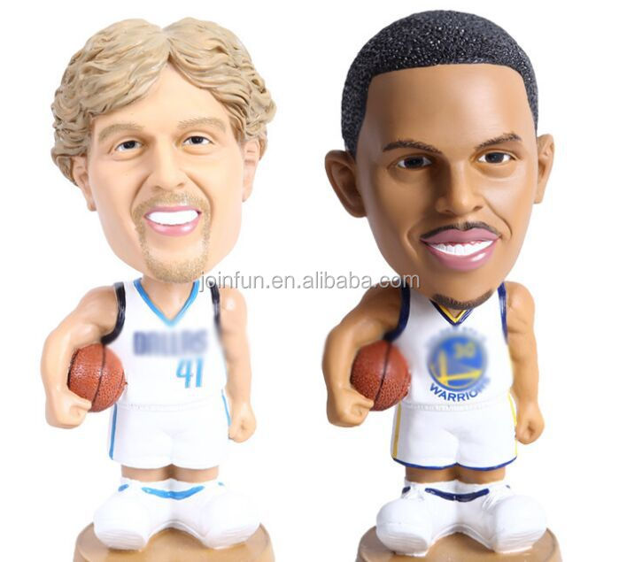 resin basketball figurine for decoration, custom made polyresin figurine, 8 inch resin action figures