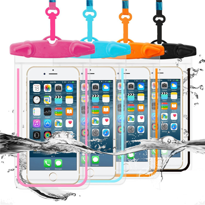 Clear Transparent Touch Screen Fluorescent Mobile Phone Waterproof Pouches Water Proof Swimming Diving Cases for Xiaomi Redmi