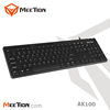 Manufacture Wholesale Ergonomic design Waterproof USB Wired Computer Keyboard for Laptop and Desktop