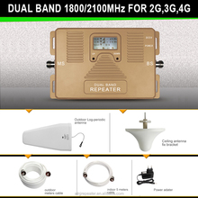 Hot sale dual band 1800/2100mhz phone signal booster home/office/basement use 2g/3g/4g network