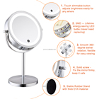 360 rotating 7 inches touch screen vanity makeup organizer with lights double sided mirror
