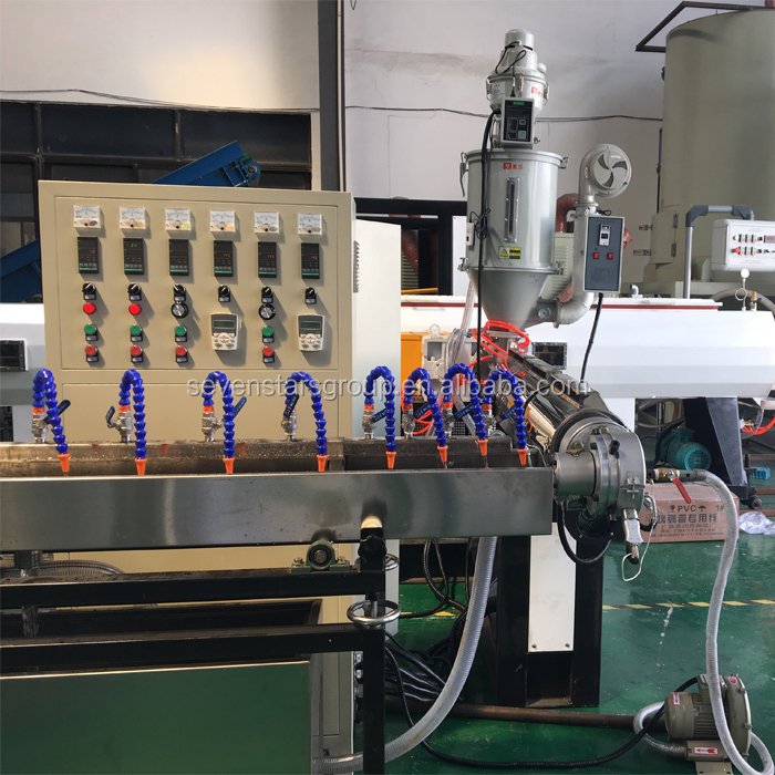 pvc wire braided garden orange flexible cable rubber hose extrusion machine