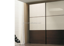 lacquer black oak wood bedroom Wardrobe with 2 doors
