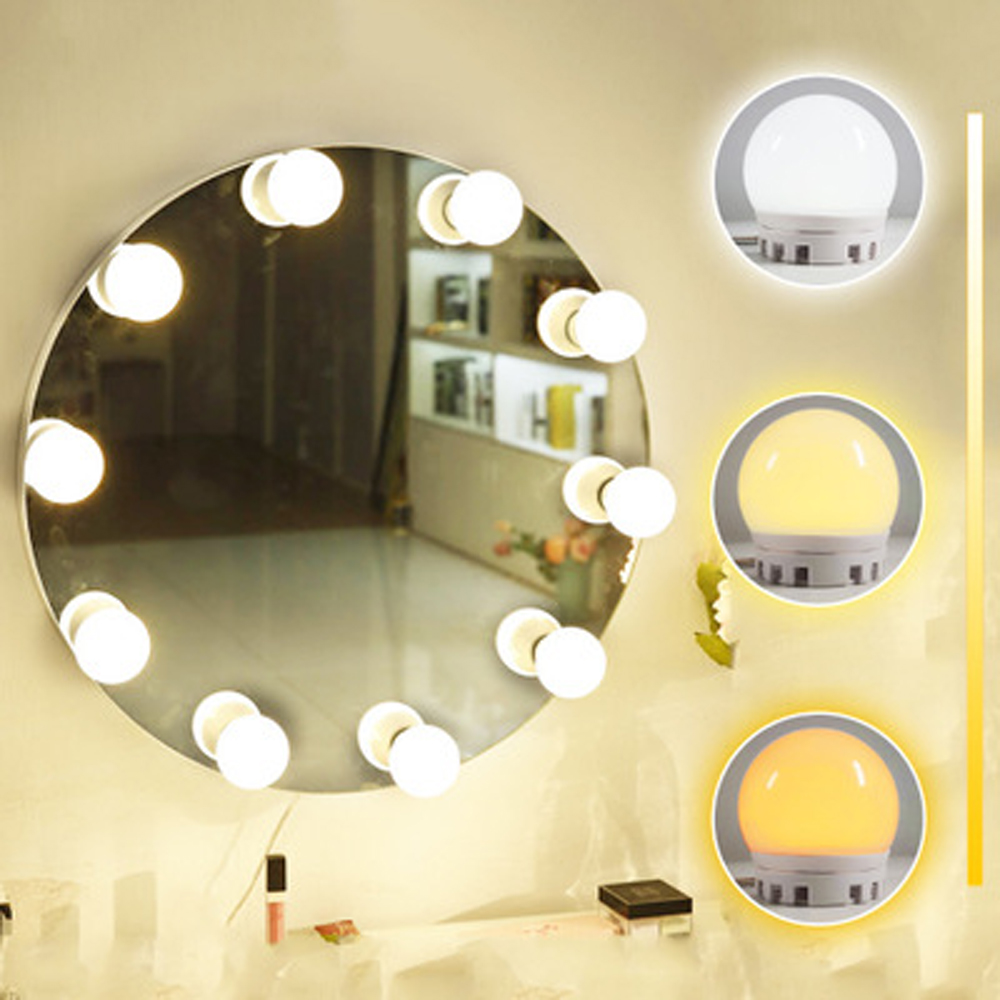 Vanity Mirror Light Led Hollywood Style Kit for Dressing Table Lighted 360 Degree Rotation Makeup Mirror Light Bulbs <strong>10</strong> <strong>D</strong>