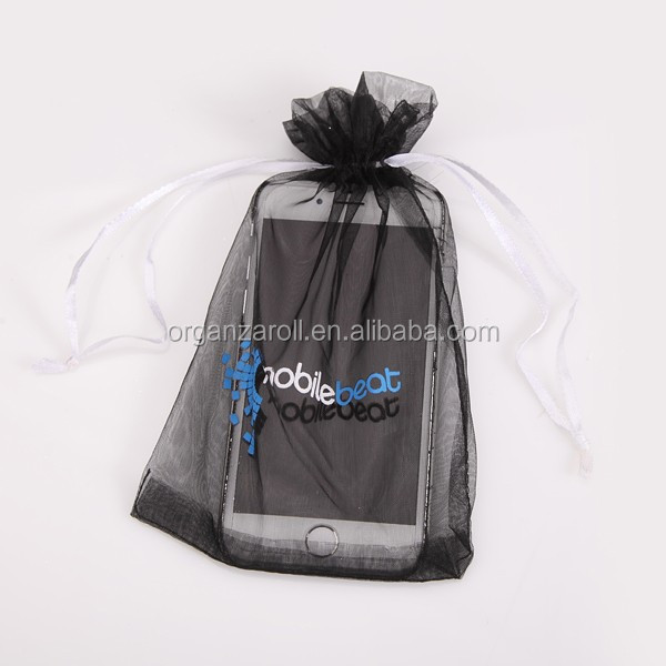 2015 Various Gift Package Decoration Transparent Black Recycled Polyester Mobile Pouch Bag
