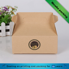 Take away kraft paper box for cheese cake/cupcake/biscuits packaging