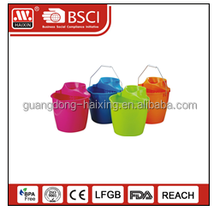 Guangdong cheap wholesales 12L bucket /Plastic water mop bucket with handle
