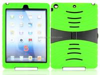 2015 New design high quality defender hybrid Silicone and PC case for iPad Air /iPad 5 with kickstand