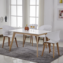 wooden pull out kitchen dining room furniture 8 seater extendable dining table