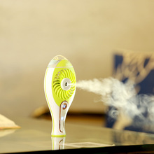 USB Rechargeable Cooling Misting Mini Fan Handheld Air Moisturizing Humidifier