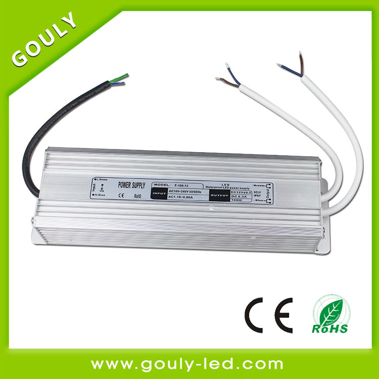 dimmable led driver 100w waterproof ip67