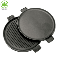 Healthy vegetable Oil Classic Reversible 14 Inch Round Cast Iron Griddle
