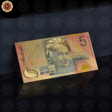 New Arrivals Colorful Gold Banknote Gold Plated Paper Money For Chtistmas GIfts For Collection