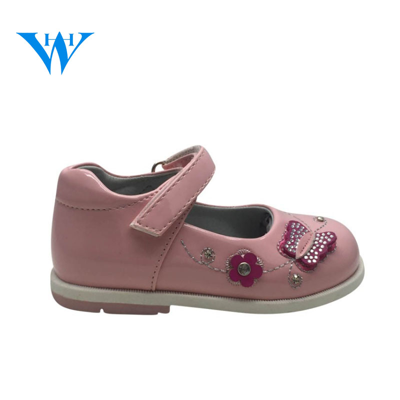 2017 pink sweet kids shoes children shoes beautiful students shoes