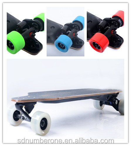 Bamboo with fiber glass Material benchwheel Electric Skateboard for sales