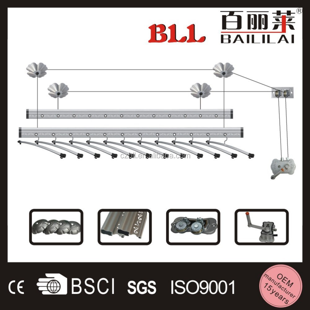 Aluminum Clothes Drying Racks Suspended Ceiling Clothes Drying Rack Clothes Hanging Line